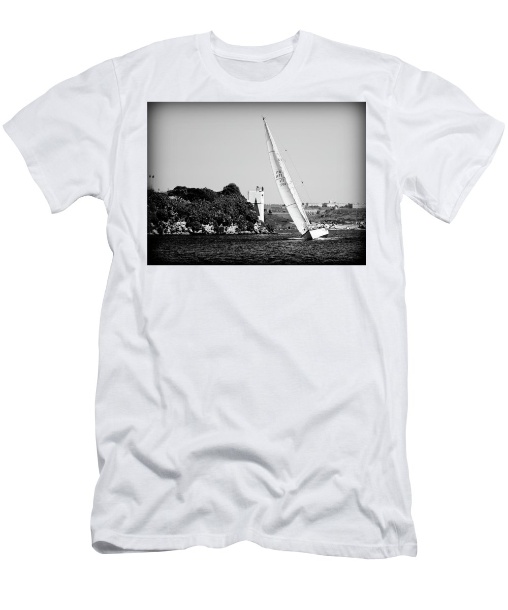 Tall Ship Men's T-Shirt (Athletic Fit) featuring the photograph Tall Ship Race 1 by Pedro Cardona Llambias