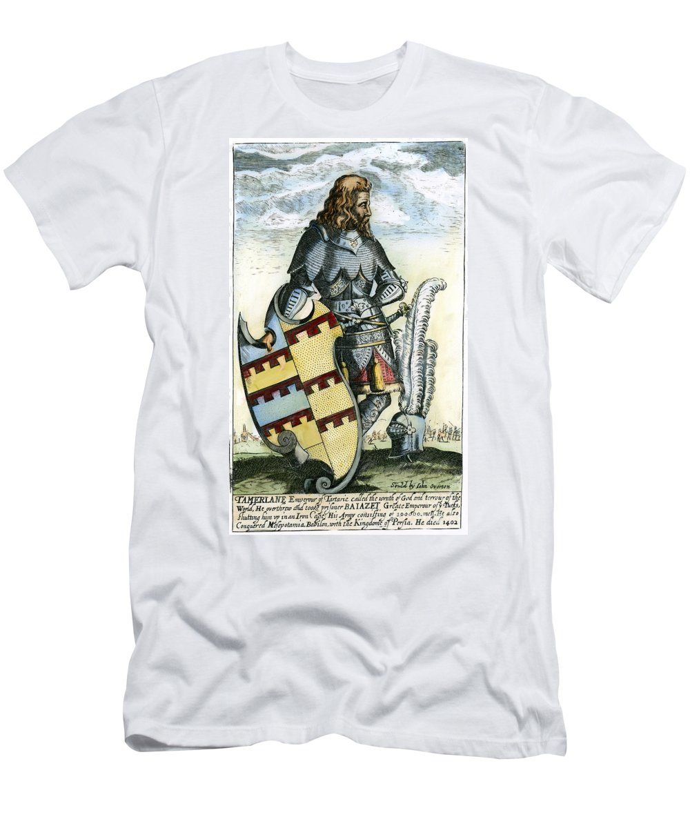 14th Century Men's T-Shirt (Athletic Fit) featuring the photograph Tamerlane (1336?-1405) by Granger