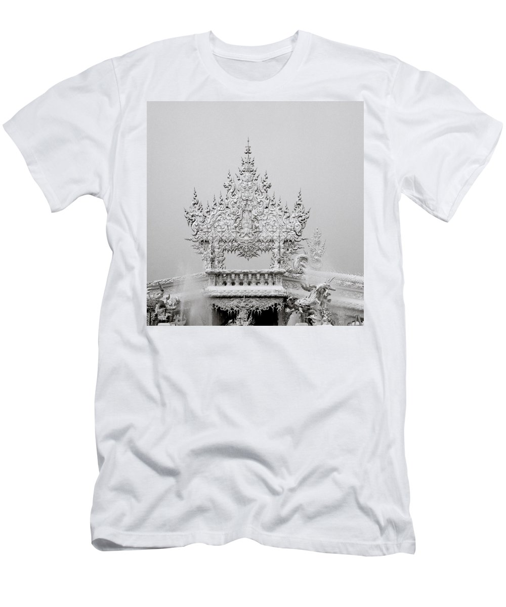 B&w Men's T-Shirt (Athletic Fit) featuring the photograph Temple by Shaun Higson