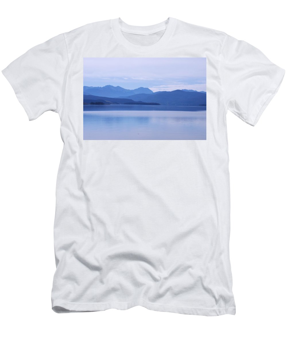 Blue Shore Men's T-Shirt (Athletic Fit) featuring the photograph The Blue Shore by Dany Lison