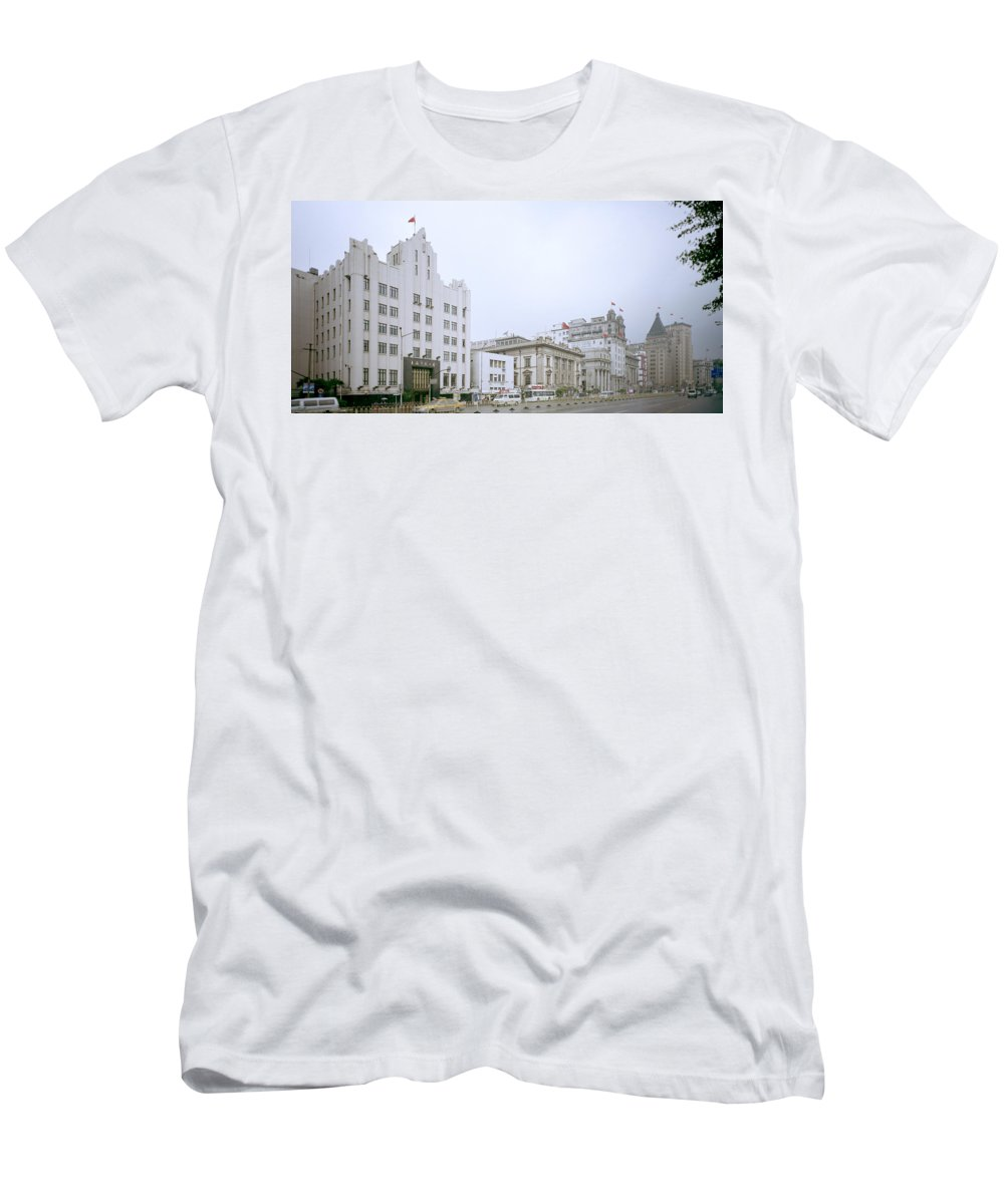 China Men's T-Shirt (Athletic Fit) featuring the photograph The Bund In Shanghai In China by Shaun Higson