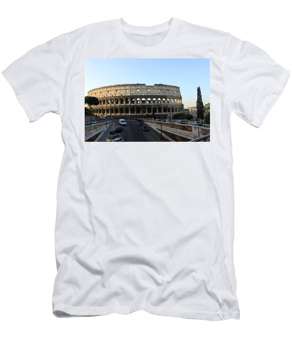 Rome T-Shirt featuring the photograph The Colosseum in Rome by Munir Alawi