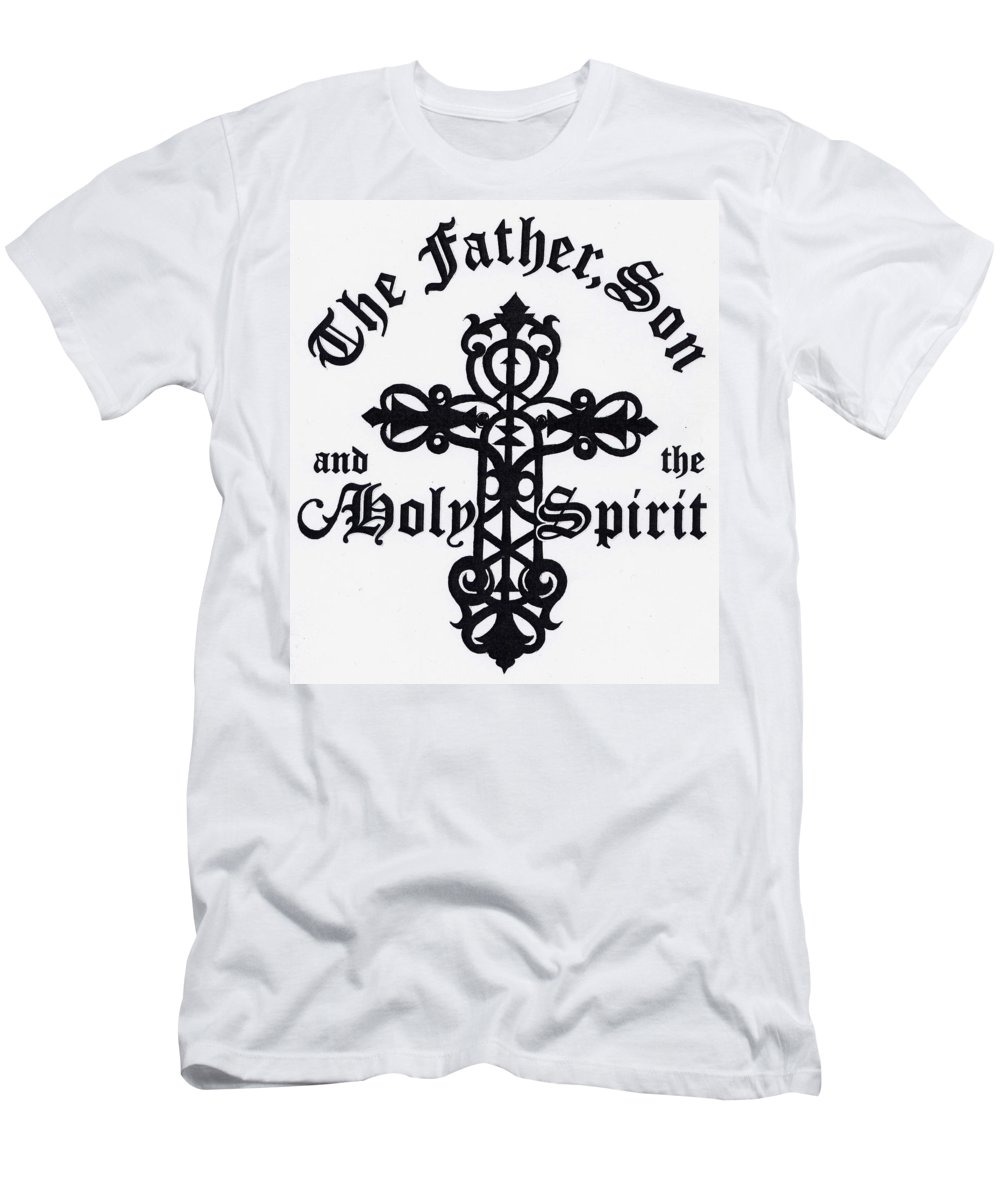 Cross Men's T-Shirt (Athletic Fit) featuring the drawing The Cross by Julianna Danson