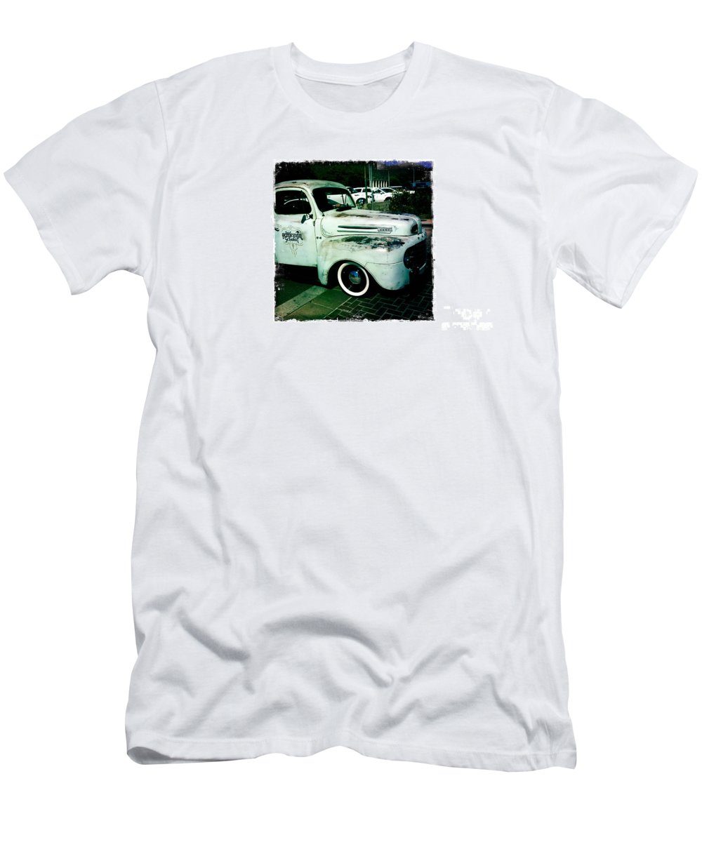 The Gentleman Scholar Truck Men's T-Shirt (Athletic Fit) featuring the photograph The Gentleman Scholar Truck by Nina Prommer