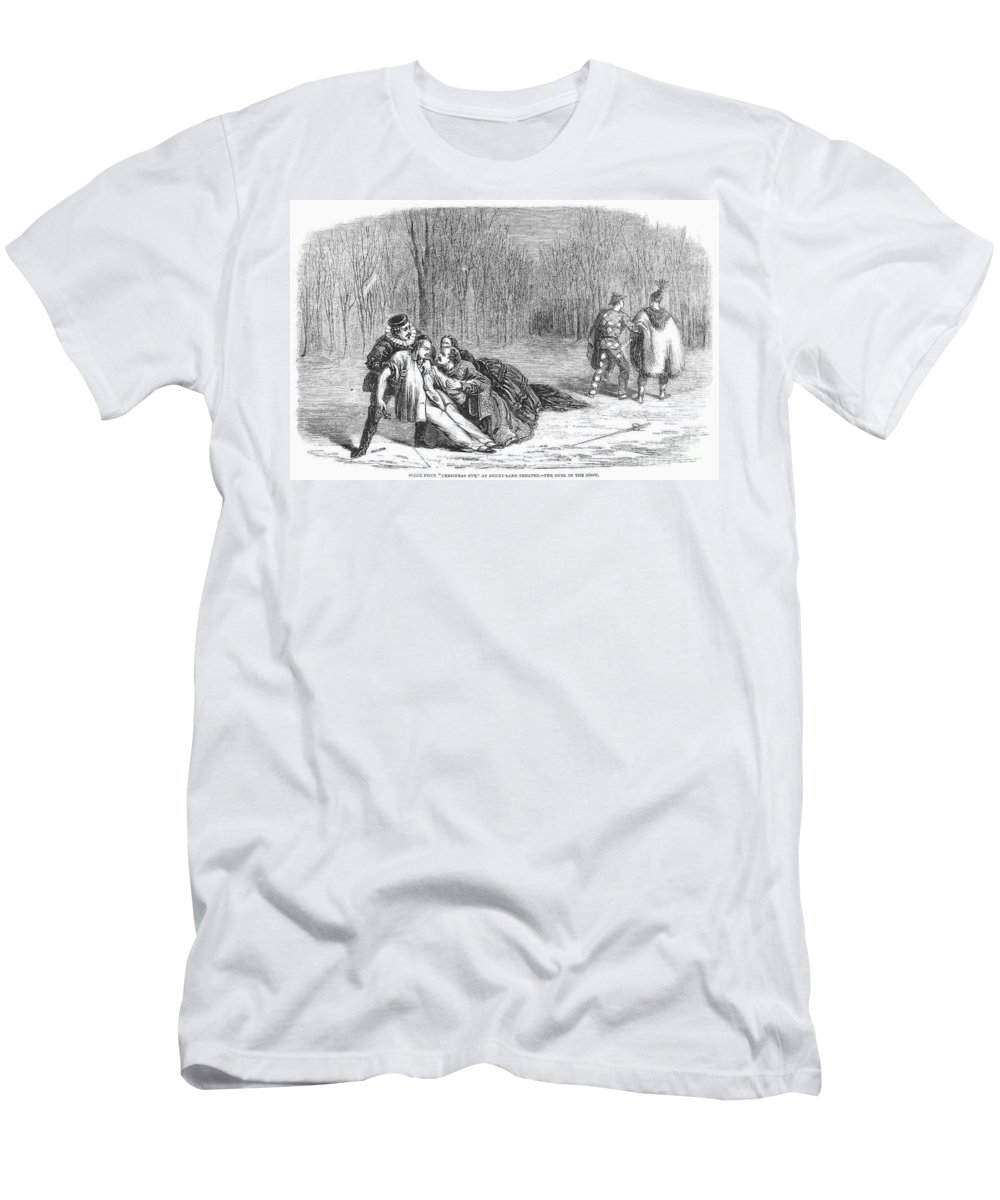 1860 Men's T-Shirt (Athletic Fit) featuring the photograph Theater: Duel, 1860 by Granger