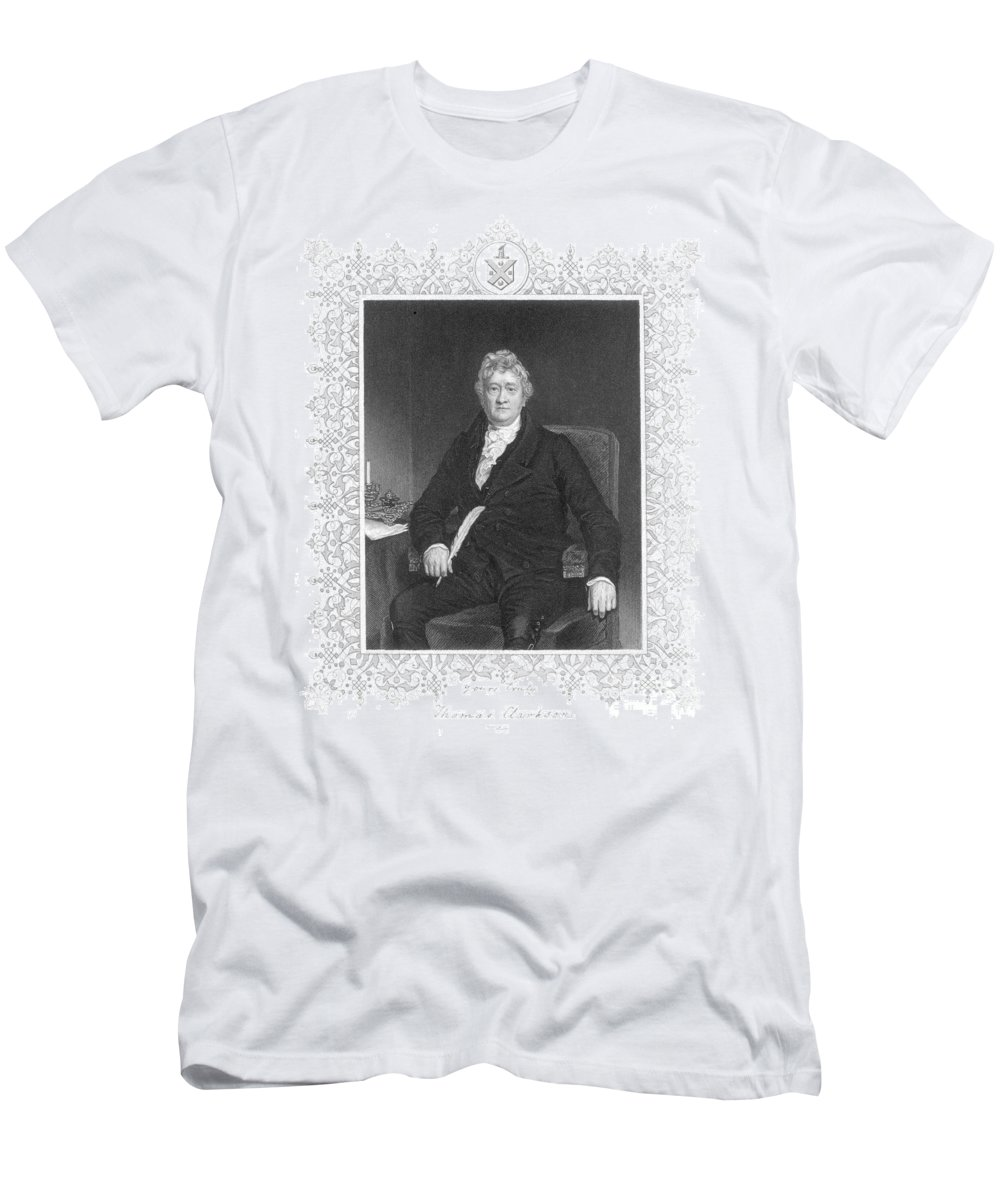 18th Century Men's T-Shirt (Athletic Fit) featuring the photograph Thomas Clarkson (1760-1846) by Granger