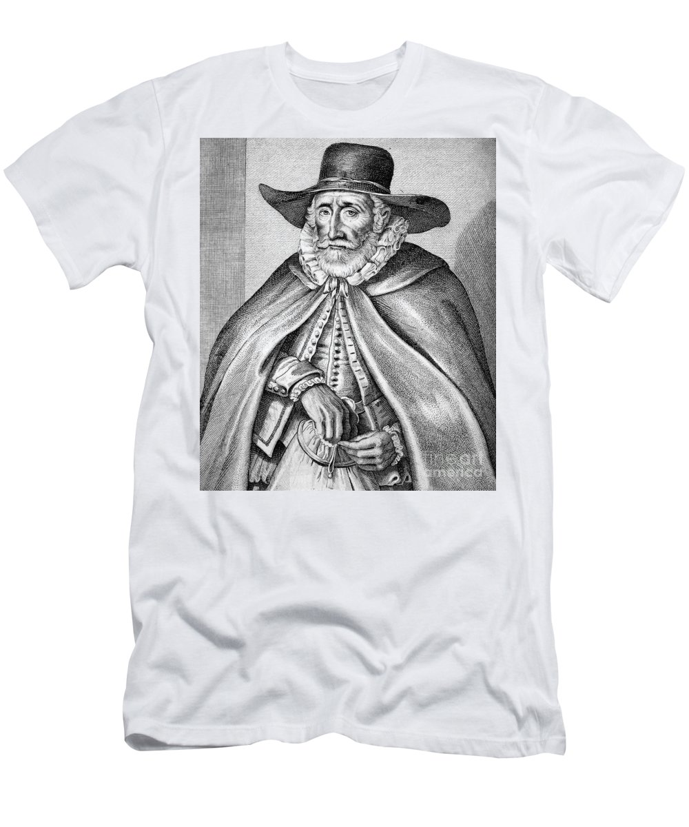 16th Century Men's T-Shirt (Athletic Fit) featuring the photograph Thomas Hobson (c1544-1631) by Granger