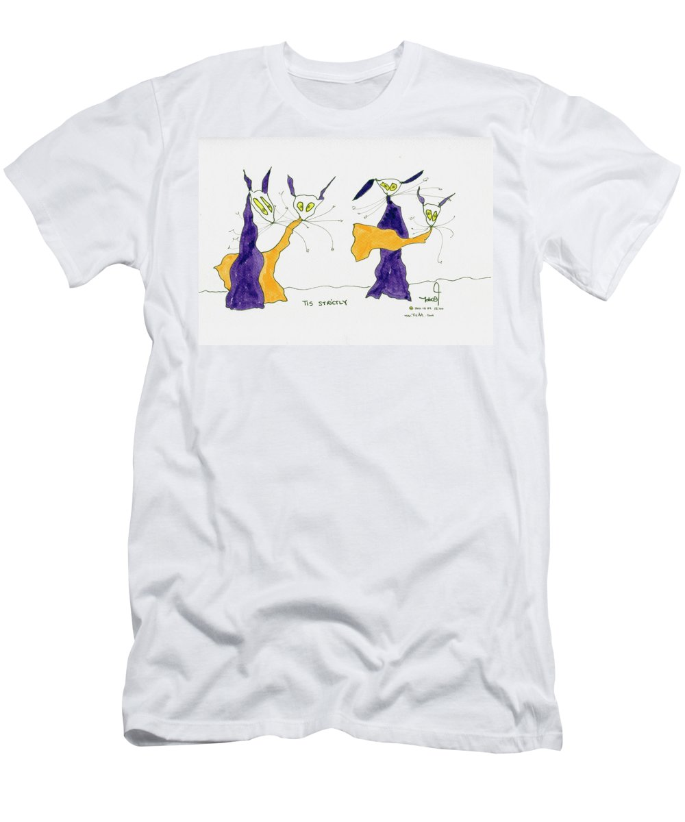 Dancing Men's T-Shirt (Athletic Fit) featuring the drawing Tis Strictly by Tis Art