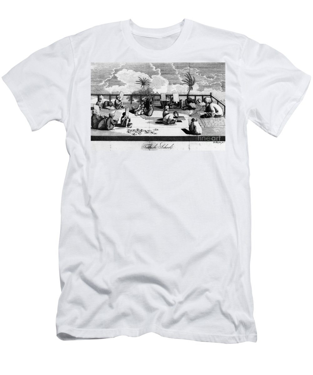 1800 Men's T-Shirt (Athletic Fit) featuring the photograph Turkey: School, C1800 by Granger