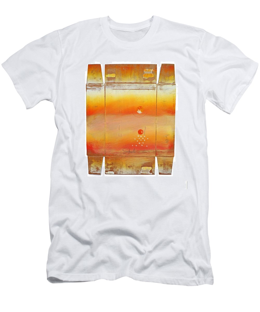 Seascape Men's T-Shirt (Athletic Fit) featuring the digital art Turner Box Two by Charles Stuart