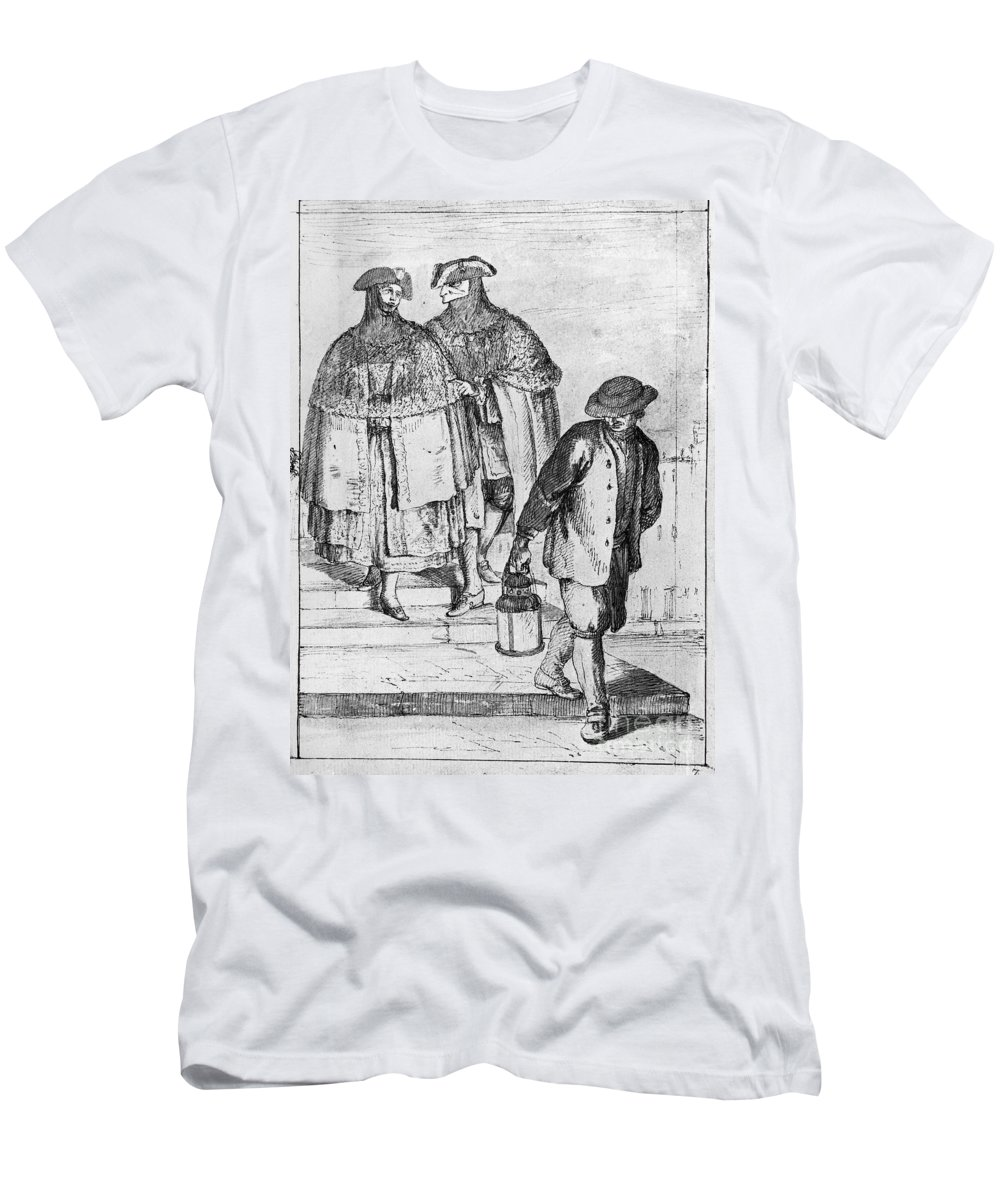 18th Century Men's T-Shirt (Athletic Fit) featuring the photograph Venice: 18th Century by Granger