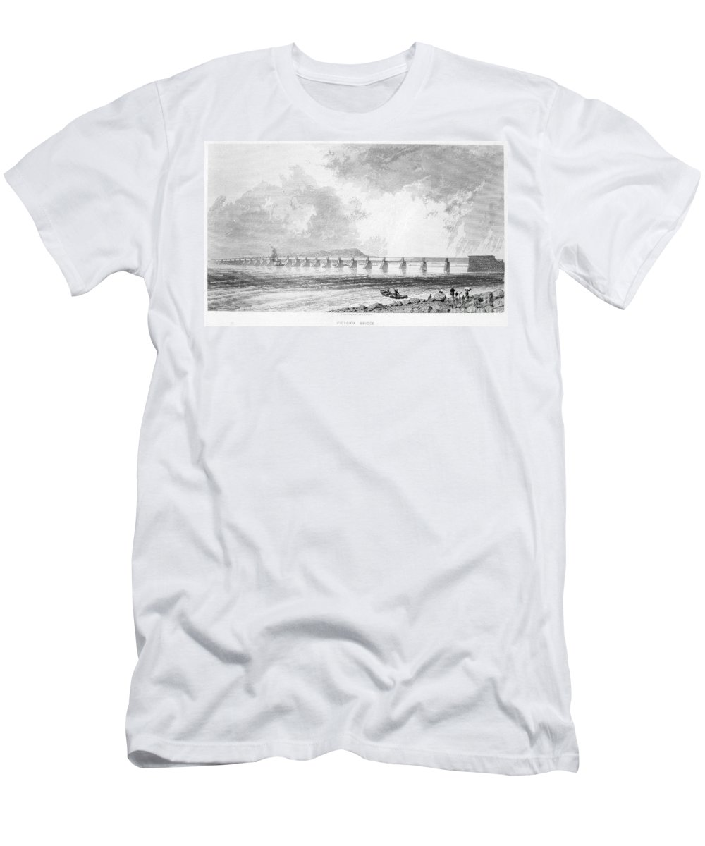 1868 Men's T-Shirt (Athletic Fit) featuring the photograph Victoria Bridge by Granger