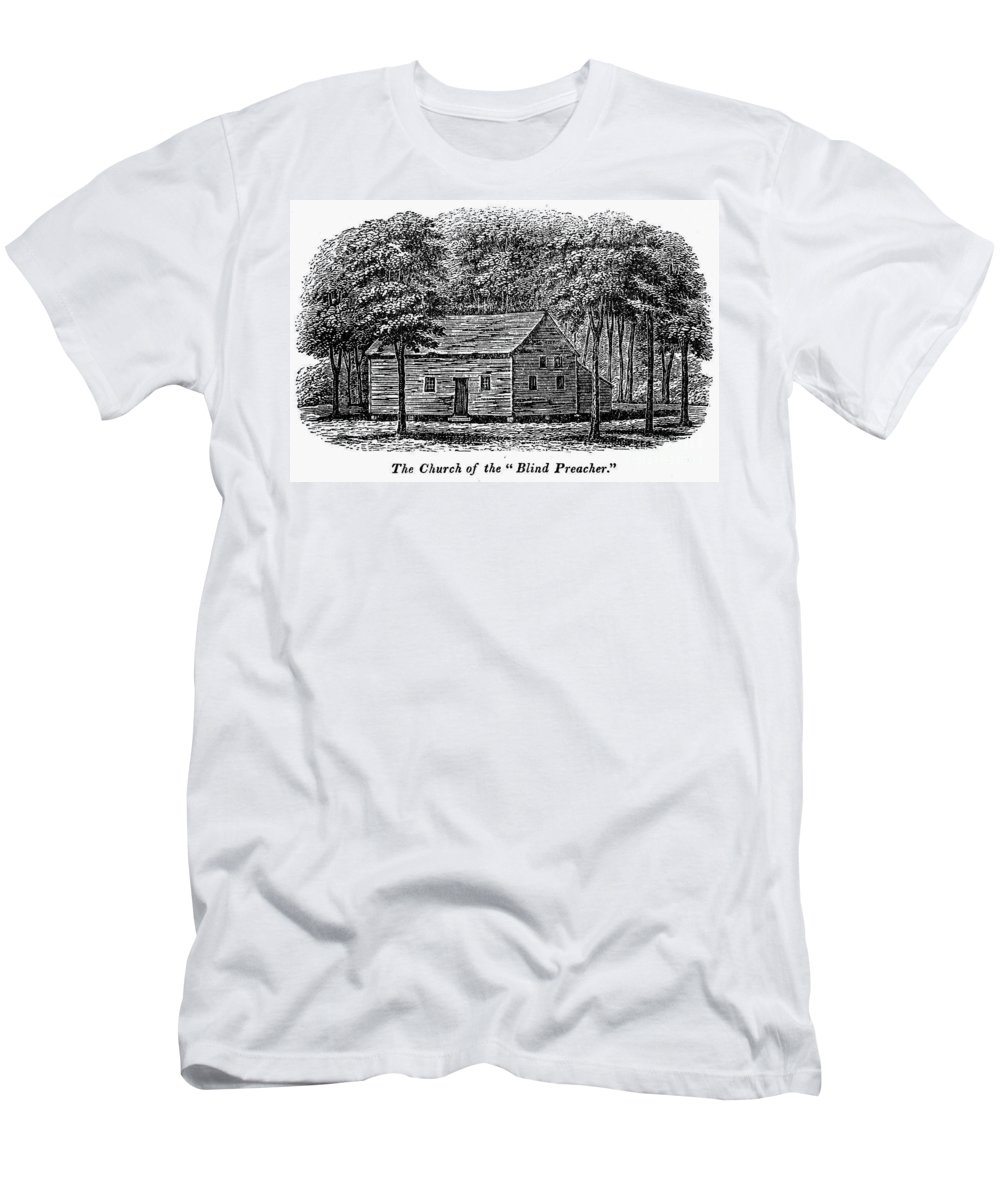 1856 Men's T-Shirt (Athletic Fit) featuring the photograph Virginia: Church by Granger