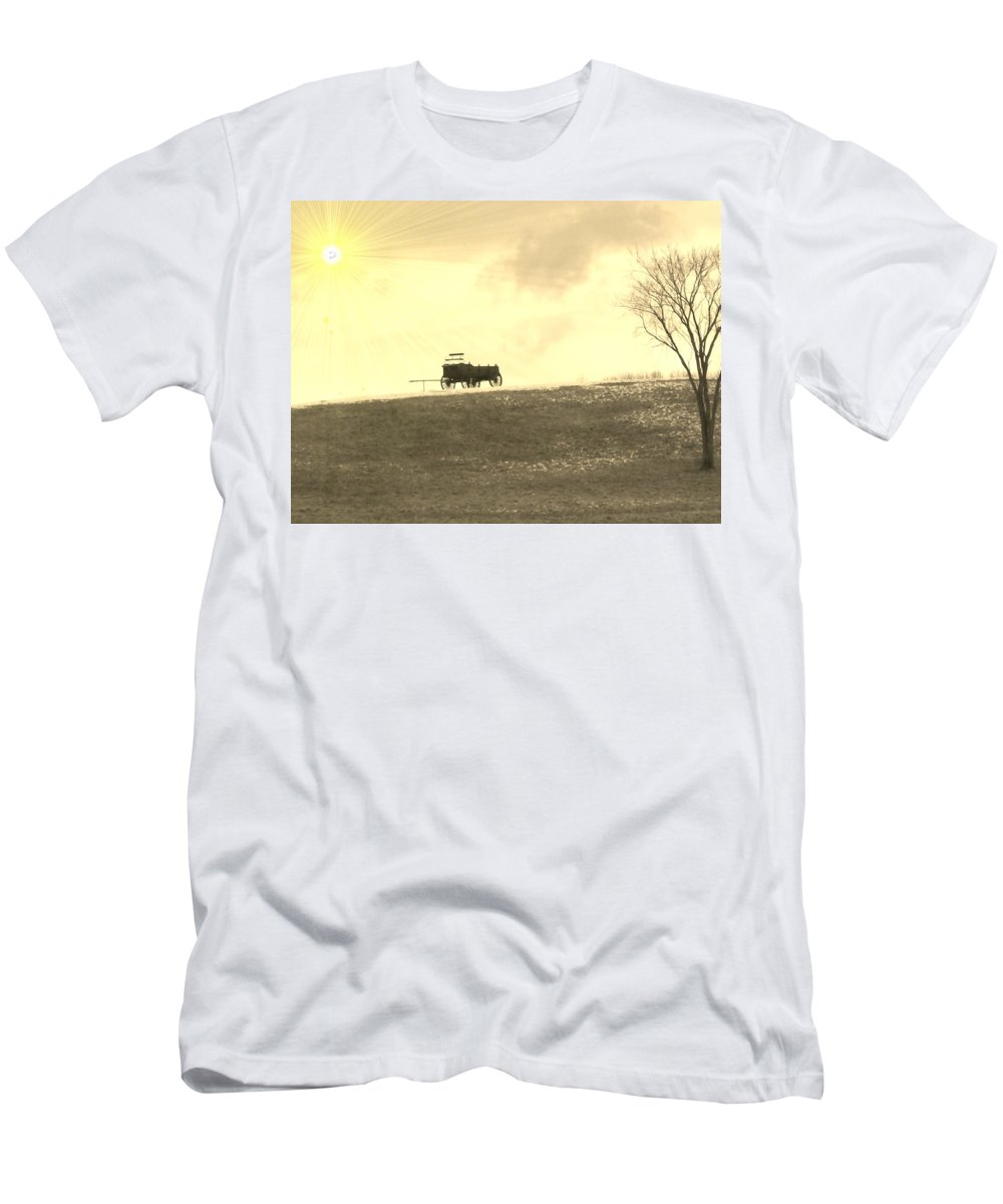 Photo Men's T-Shirt (Athletic Fit) featuring the photograph Wagon Hill by Barbara S Nickerson