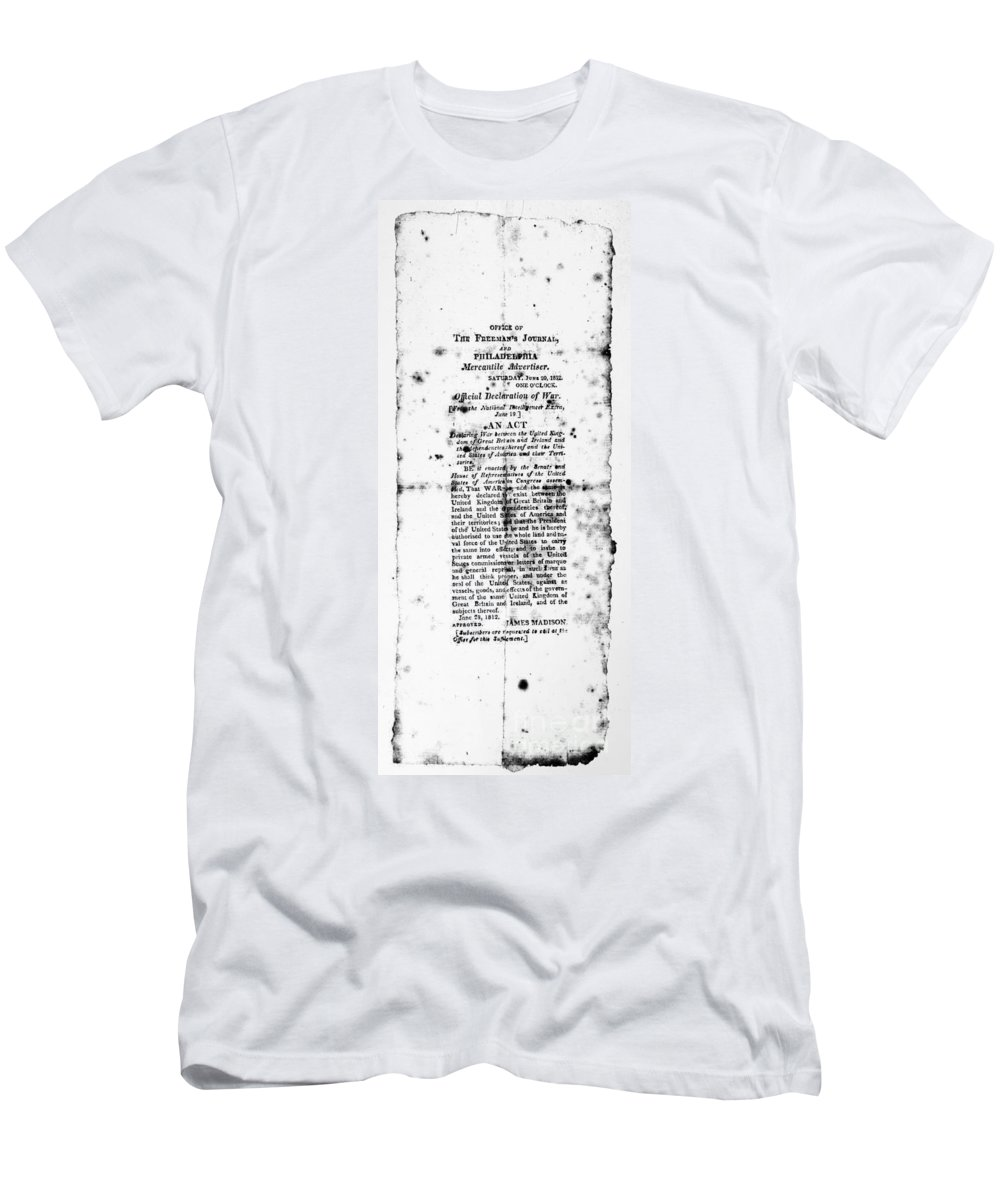 1812 Men's T-Shirt (Athletic Fit) featuring the photograph War Of 1812: Broadside by Granger