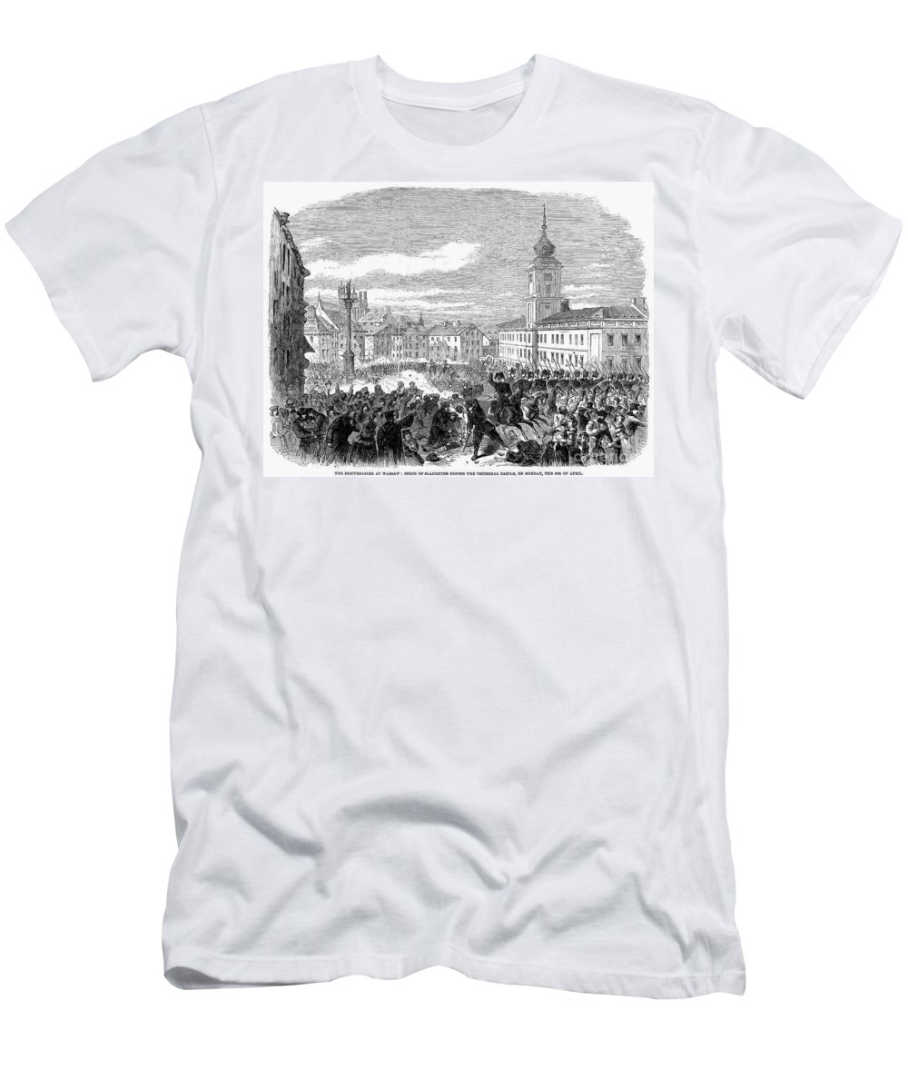1861 Men's T-Shirt (Athletic Fit) featuring the photograph Warsaw: Civil Disturbance by Granger