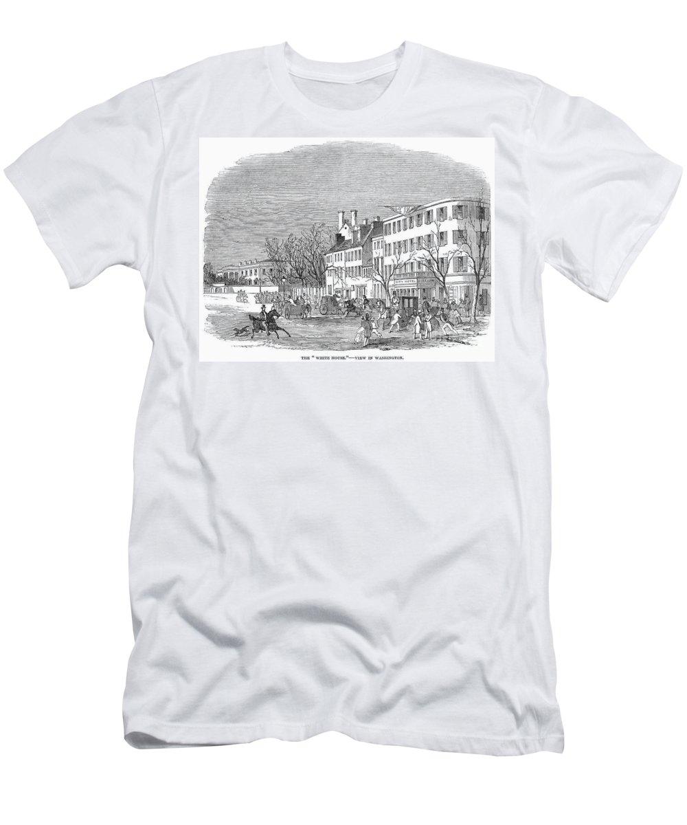 1853 Men's T-Shirt (Athletic Fit) featuring the photograph Washington, D.c., 1853 by Granger