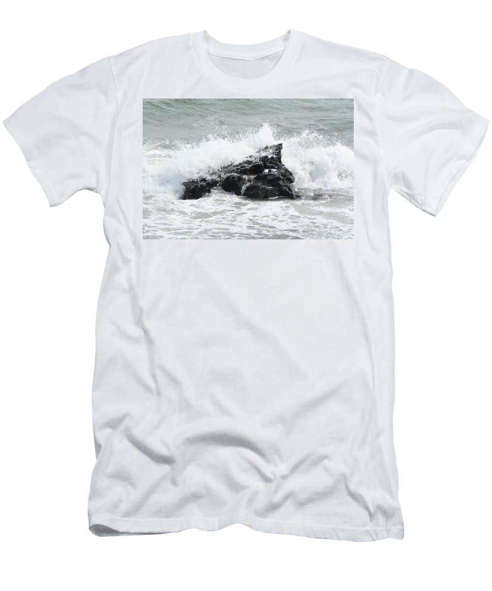 Water Men's T-Shirt (Athletic Fit) featuring the photograph Water 0004 by Carol Ann Thomas