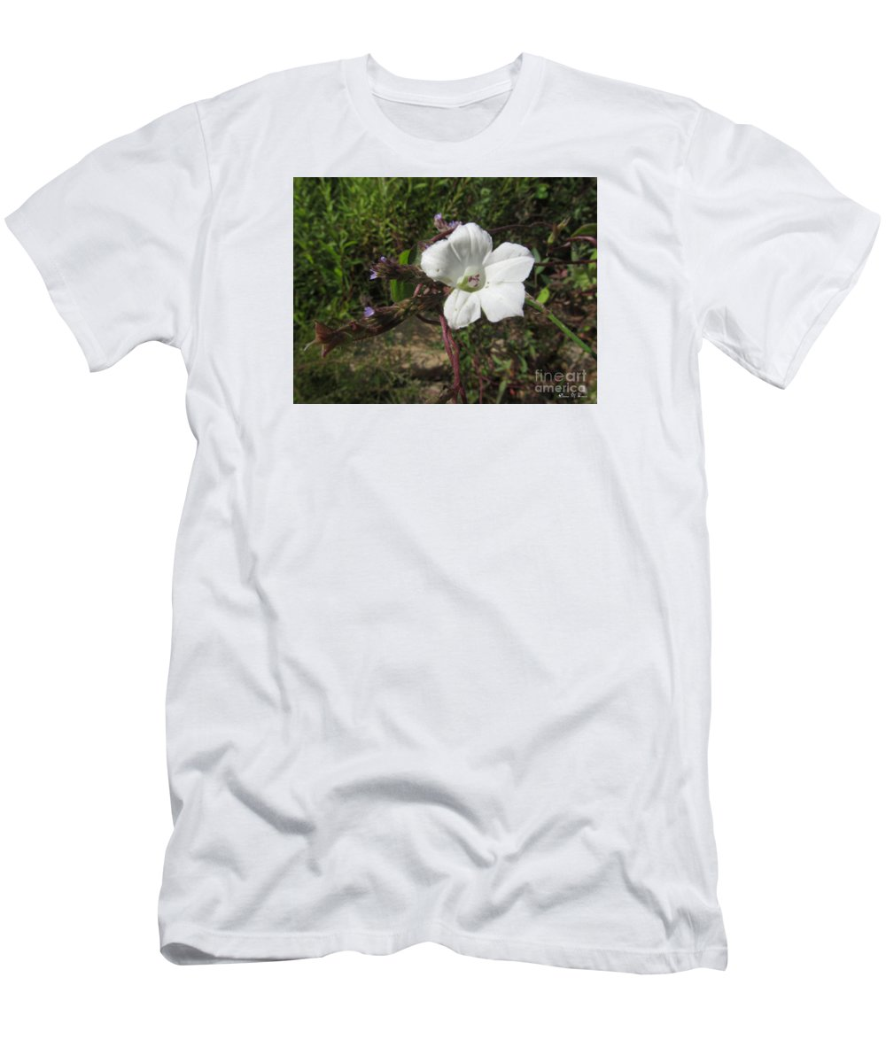 Plant Men's T-Shirt (Athletic Fit) featuring the photograph Small White Morning Glory by Donna Brown