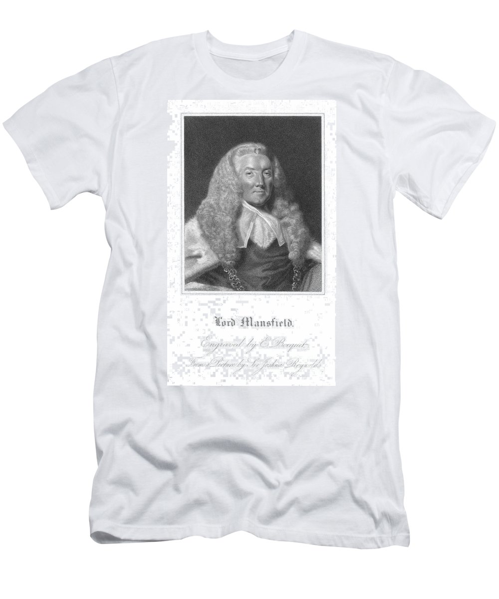 18th Century Men's T-Shirt (Athletic Fit) featuring the photograph William Murray (1705-1793) by Granger
