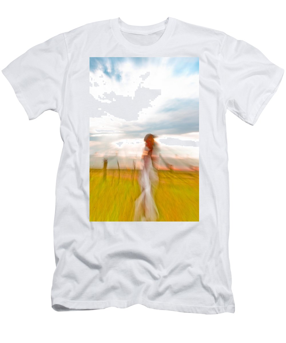 Abstract Men's T-Shirt (Athletic Fit) featuring the photograph Woman Wave by Scott Sawyer