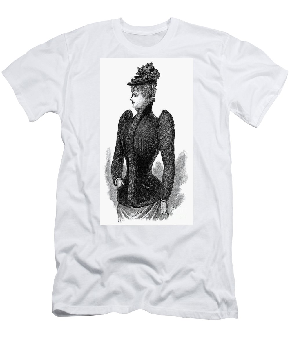 1890 Men's T-Shirt (Athletic Fit) featuring the photograph Womens Fashion, 1890 by Granger