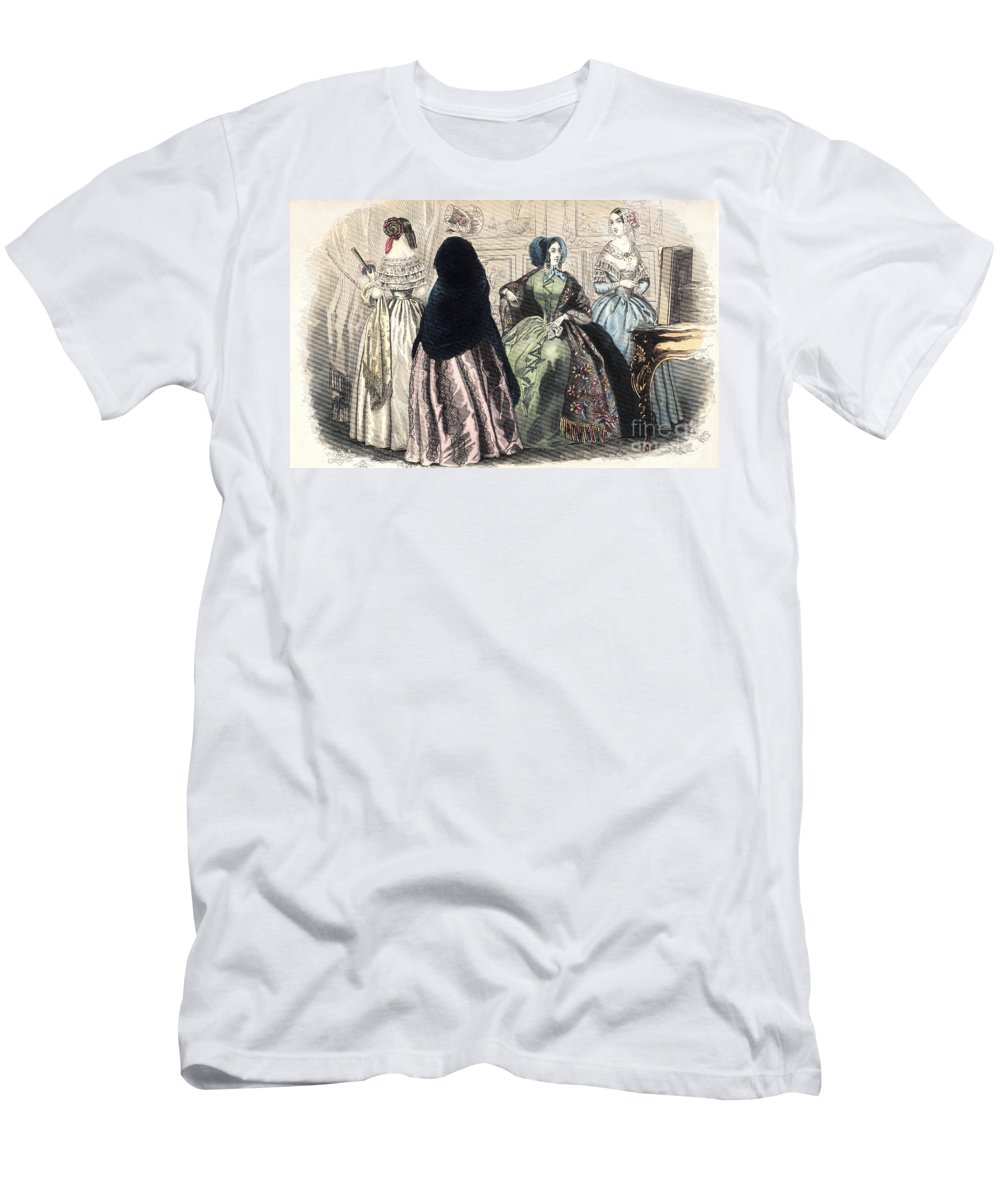1850s Men's T-Shirt (Athletic Fit) featuring the photograph Womens Fashion, C1850 by Granger