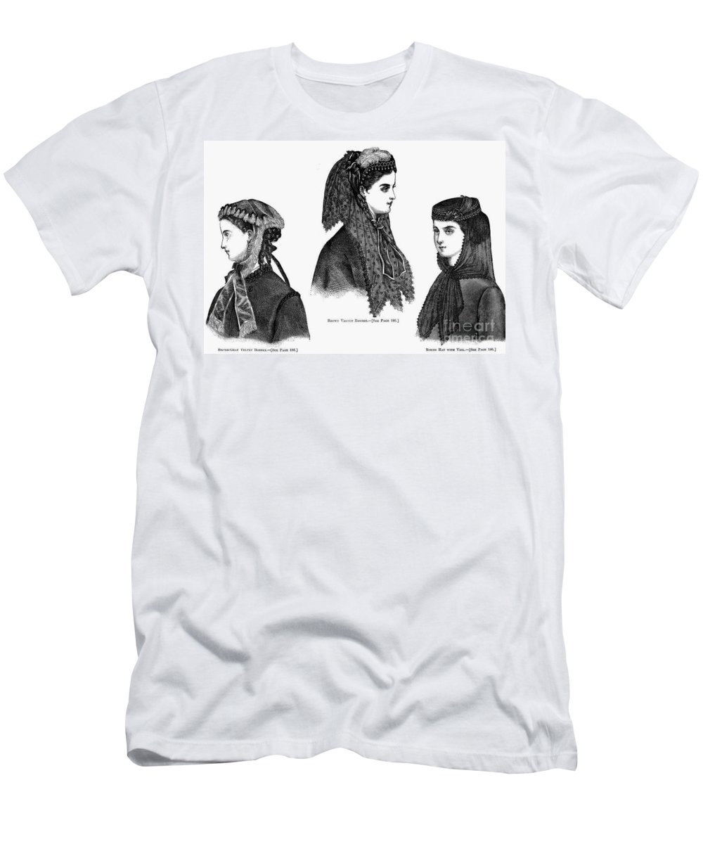 1868 Men's T-Shirt (Athletic Fit) featuring the photograph Womens Hats, 1868 by Granger