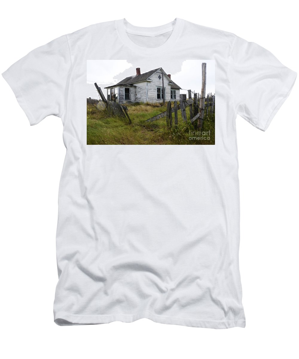 Yard Men's T-Shirt (Athletic Fit) featuring the photograph Yard Needs A Little Tlc by Bob Christopher