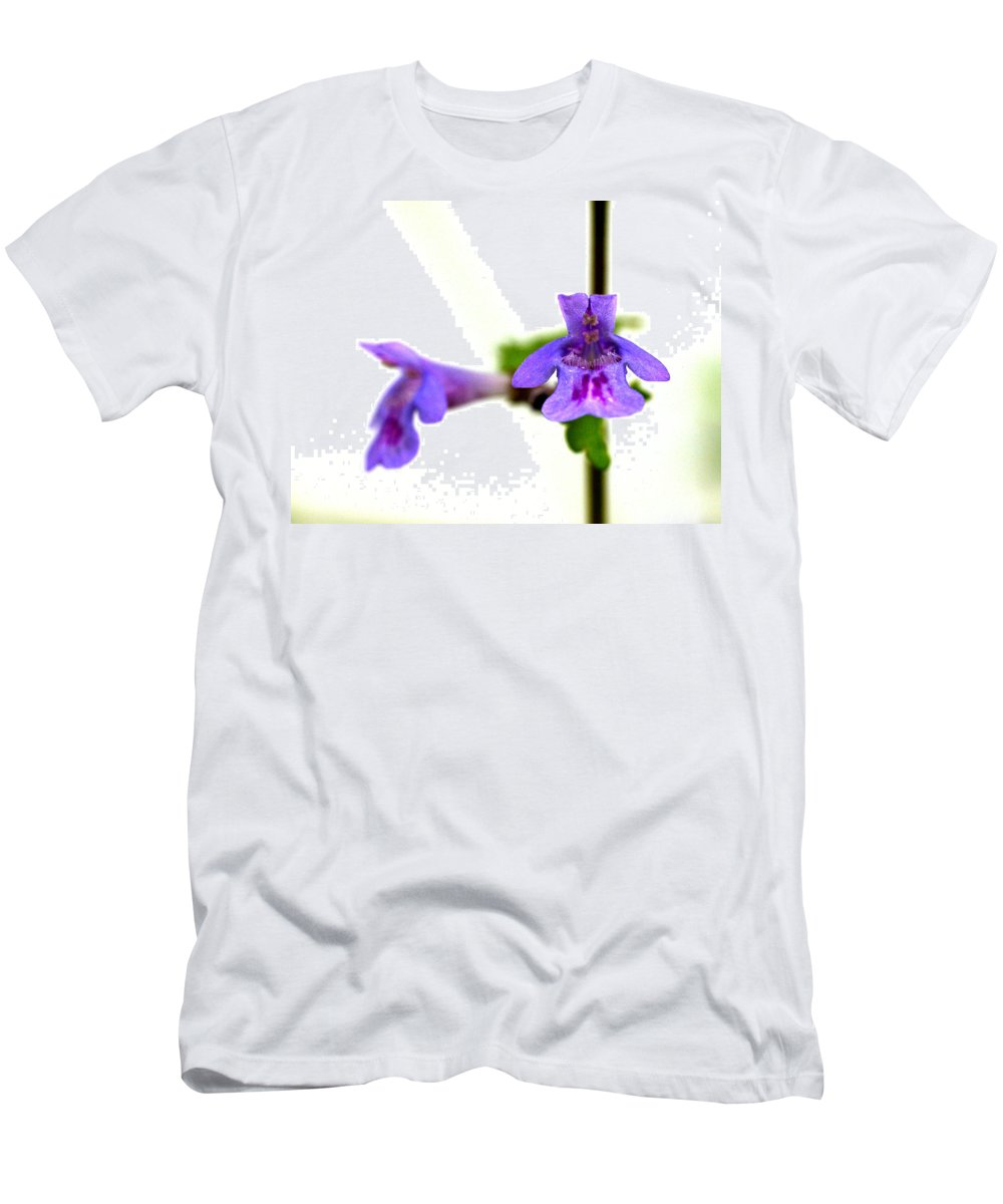 Lehtokukka Men's T-Shirt (Athletic Fit) featuring the photograph Ground-ivy by Jouko Lehto