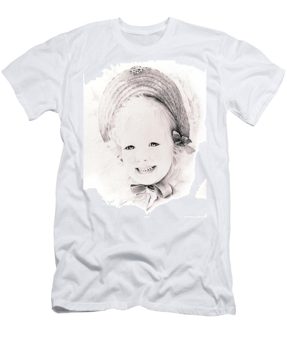 Portrait Men's T-Shirt (Athletic Fit) featuring the drawing  Trudy by Rachel Christine Nowicki