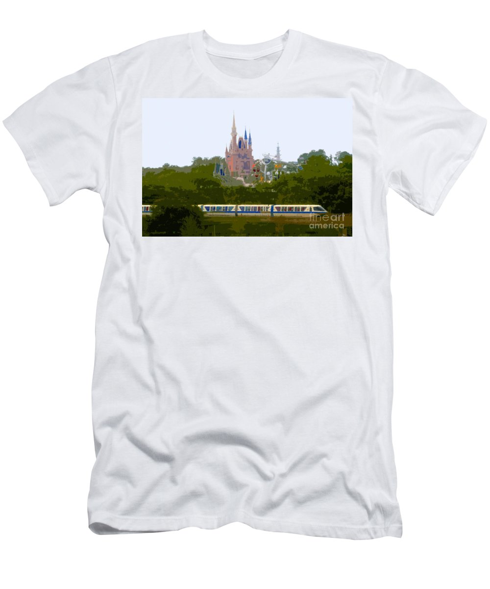 Magic Kingdom Men's T-Shirt (Athletic Fit) featuring the painting A Land Of Magic by David Lee Thompson