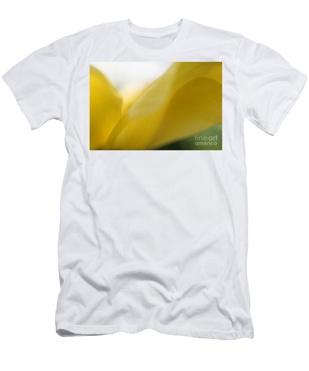 Yellow Men's T-Shirt (Athletic Fit) featuring the photograph Abstract Yellow Tulip by Michelle Himes