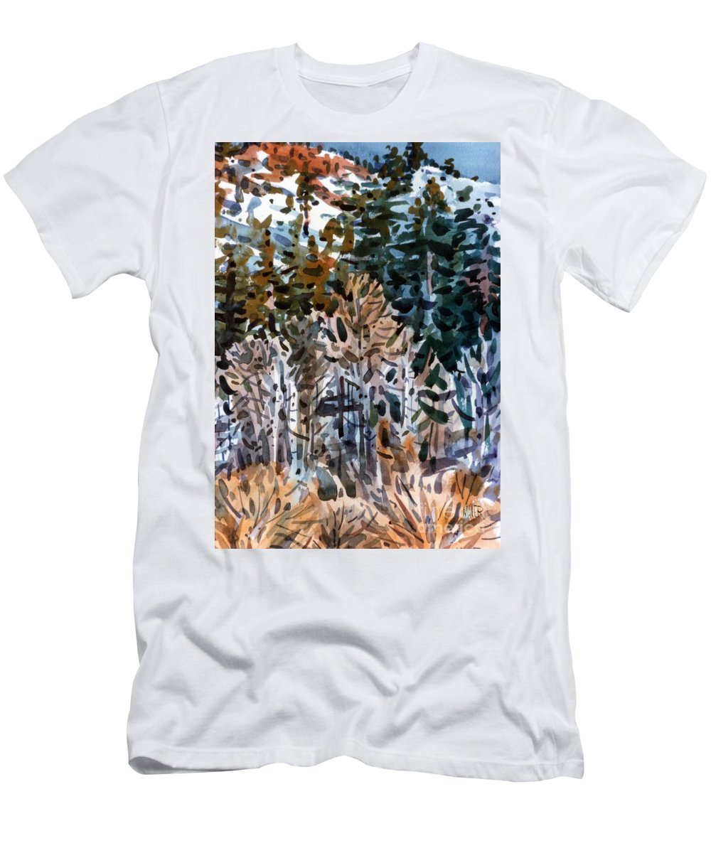 Walker River Men's T-Shirt (Athletic Fit) featuring the painting Along The Walker River by Donald Maier