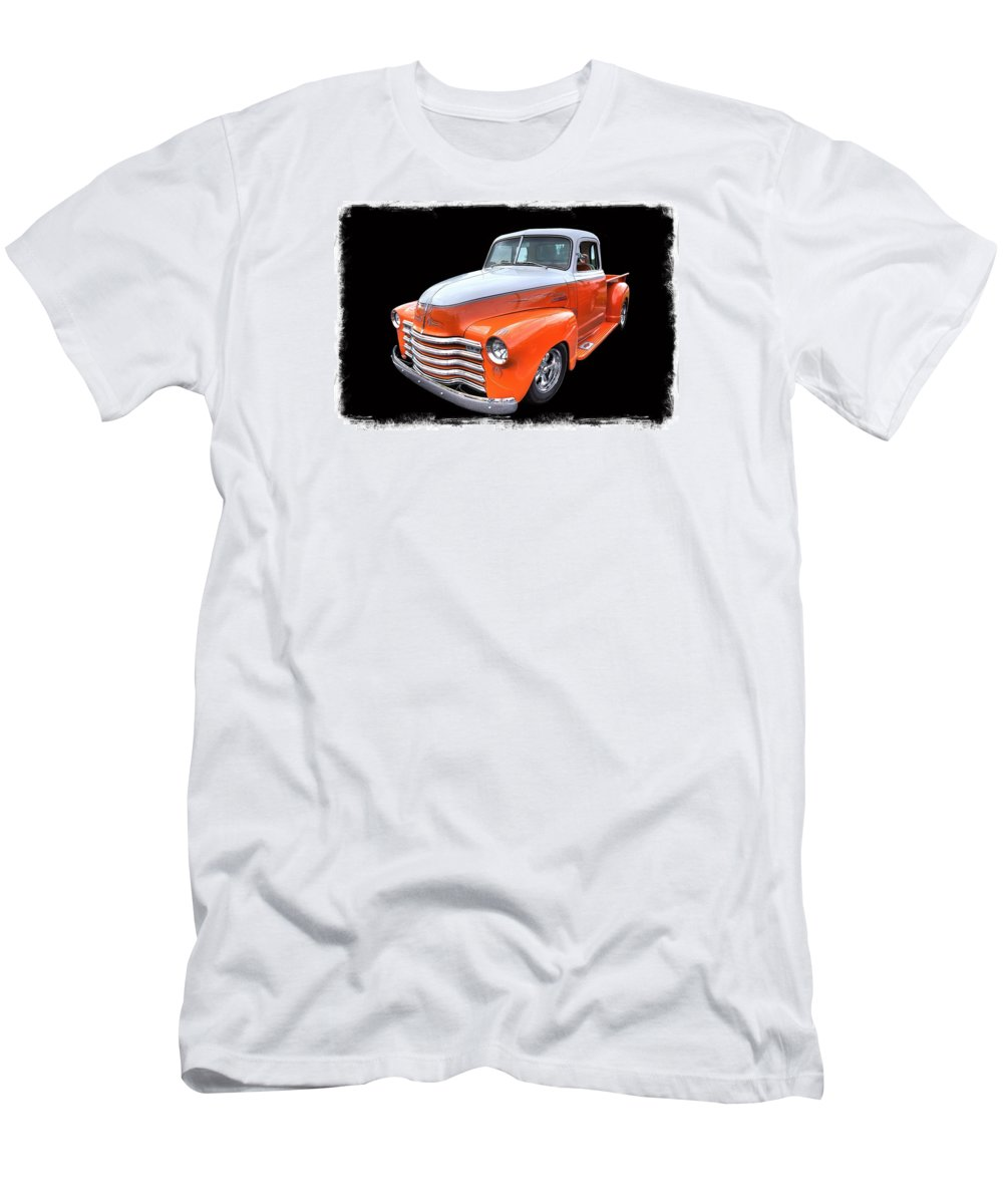 Hot Rod Pickup Truck Men's T-Shirt (Athletic Fit) featuring the photograph America's Memories by John McCuen