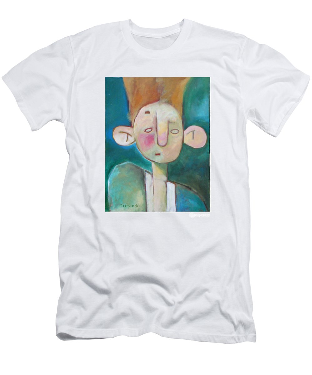 Funny Men's T-Shirt (Athletic Fit) featuring the painting Bad Hair Life by Tim Nyberg