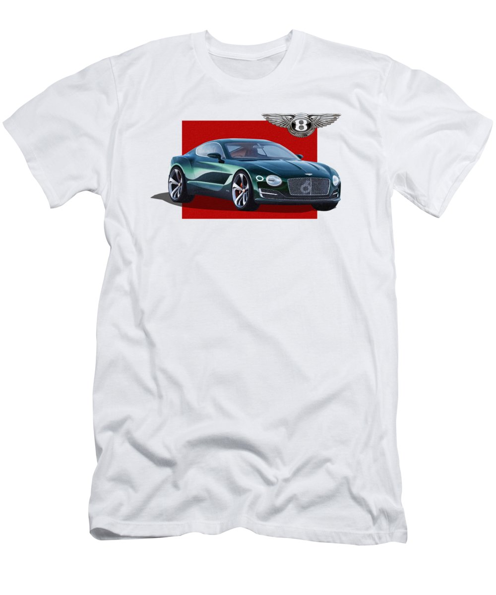 �bentley� Collection By Serge Averbukh T-Shirt featuring the photograph Bentley E X P 10 Speed 6 With 3 D Badge by Serge Averbukh