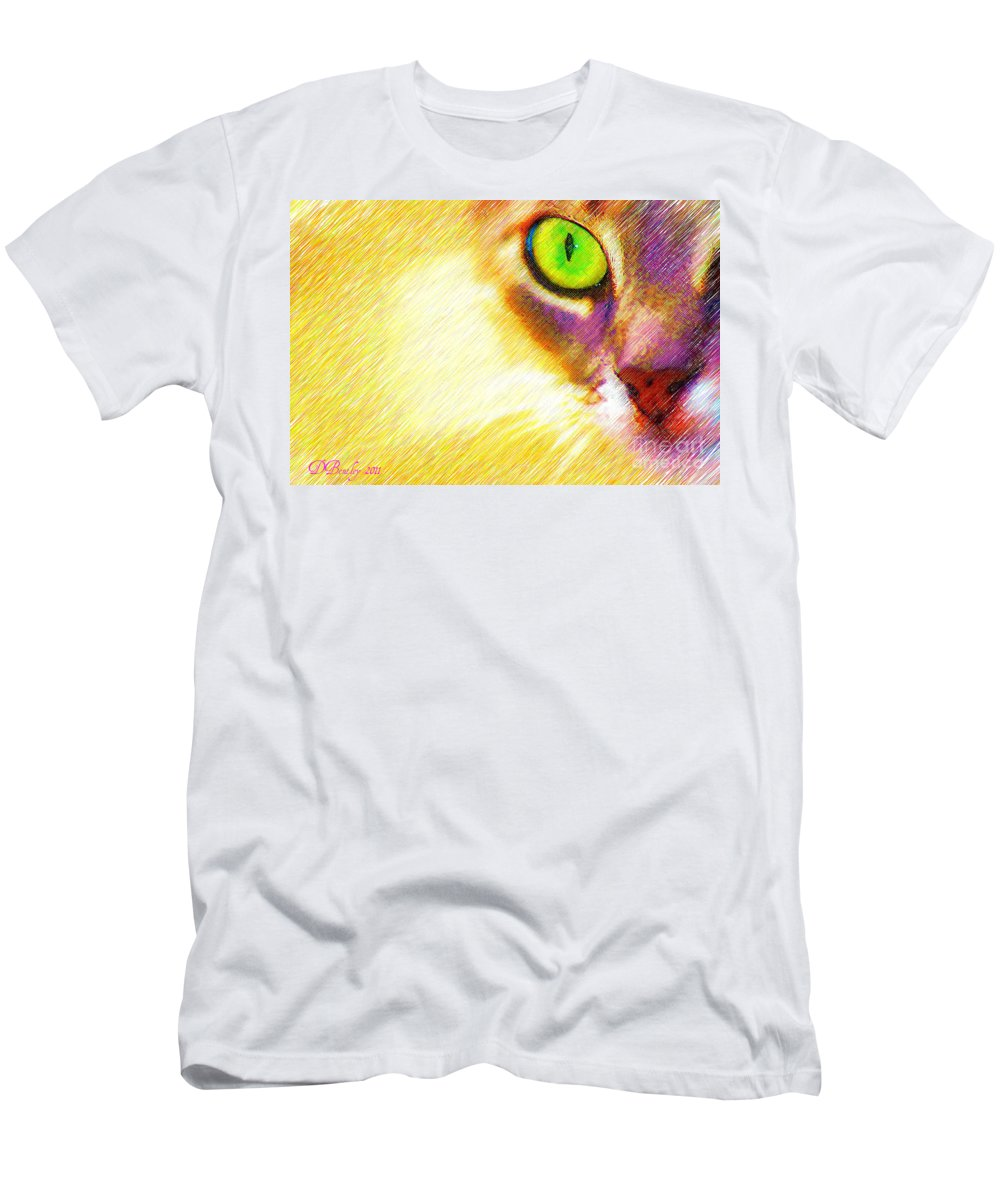 Cat Men's T-Shirt (Athletic Fit) featuring the photograph Bink by Donna Bentley
