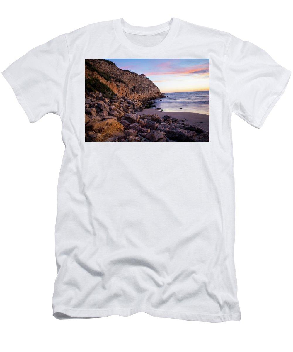 Beach Men's T-Shirt (Athletic Fit) featuring the photograph Cap Salou, Spain by Chantelle Flores