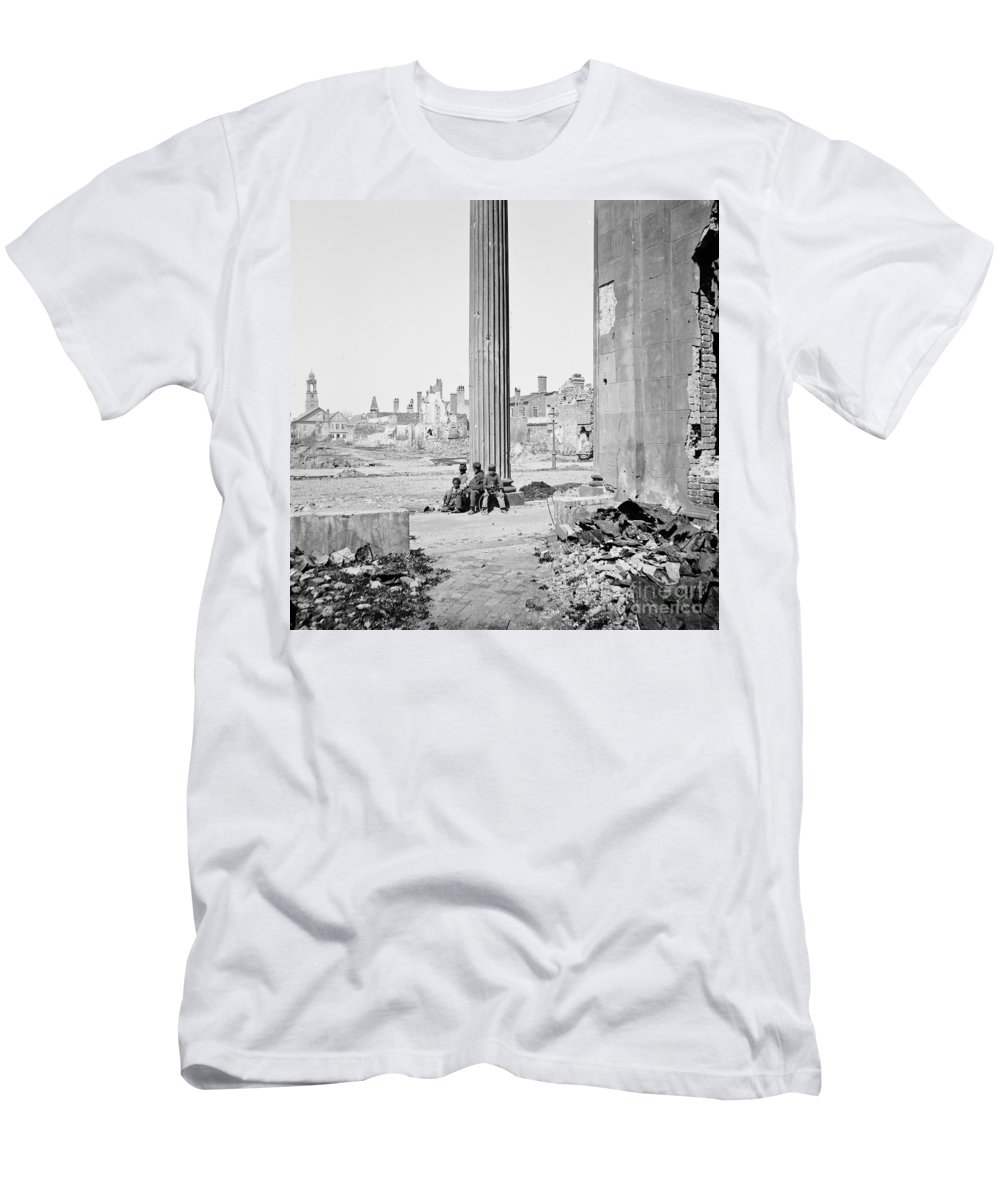 1865 Men's T-Shirt (Athletic Fit) featuring the photograph Civil War: Charleston, 1865 by Granger
