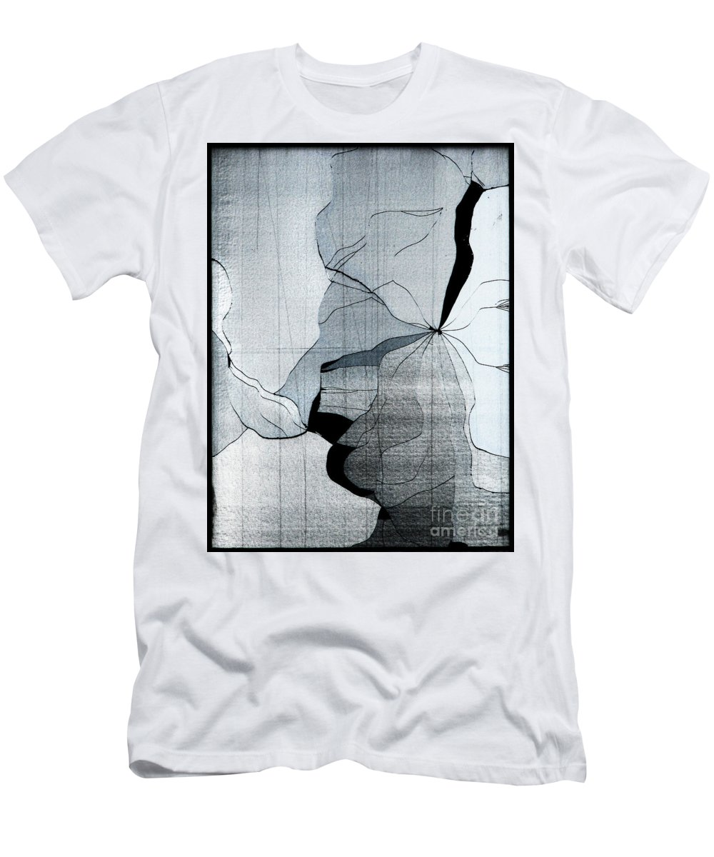 Abstract Men's T-Shirt (Athletic Fit) featuring the photograph Colors Are Bleeding Once Again by Dana DiPasquale