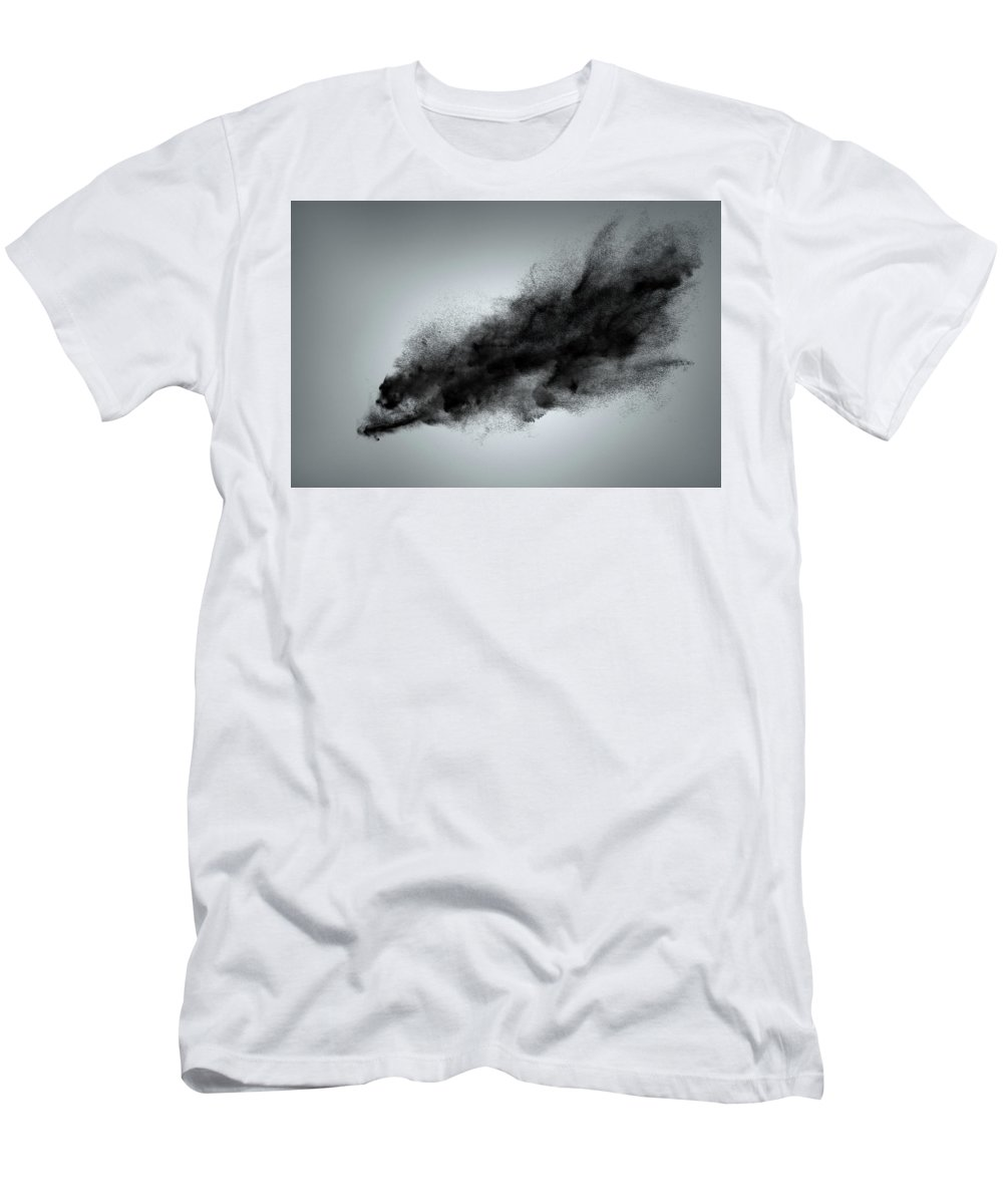 Dust Men's T-Shirt (Athletic Fit) featuring the photograph Creative Dark Cloud by IPolyPhoto Art