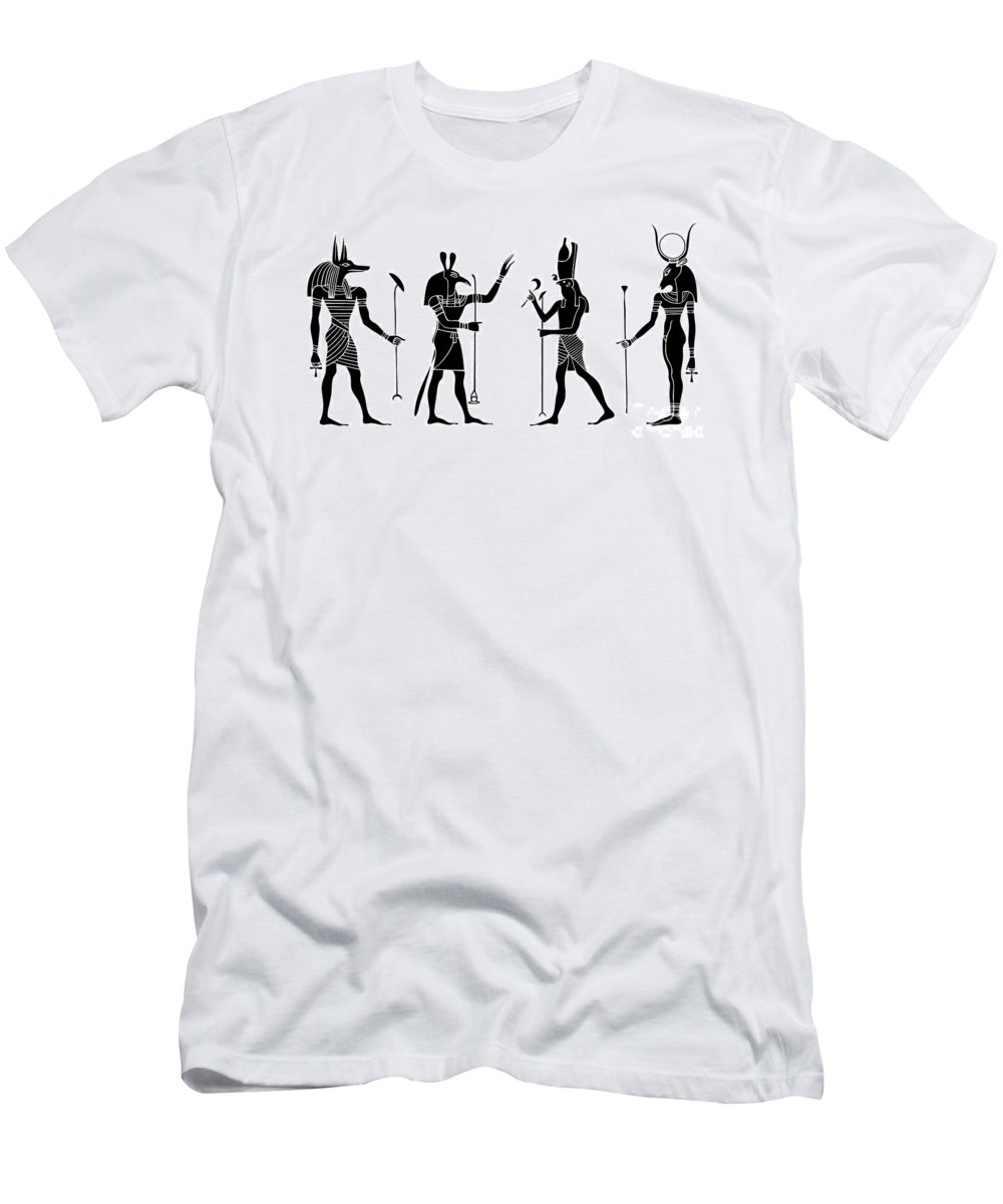 Africa Men's T-Shirt (Athletic Fit) featuring the digital art Egyptian Gods by Michal Boubin