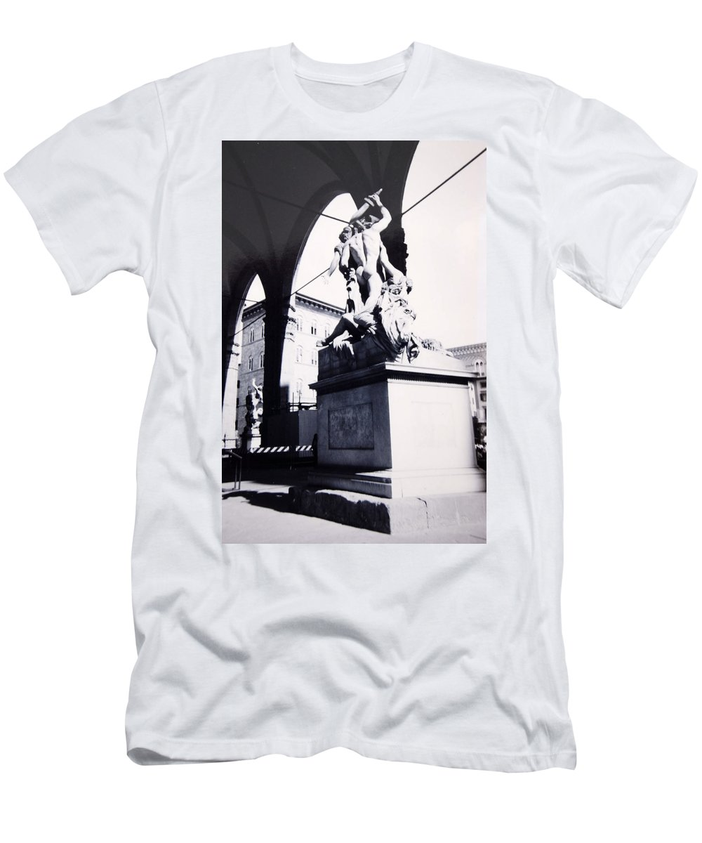 Firenze Men's T-Shirt (Athletic Fit) featuring the photograph Florence by Kurt Hausmann