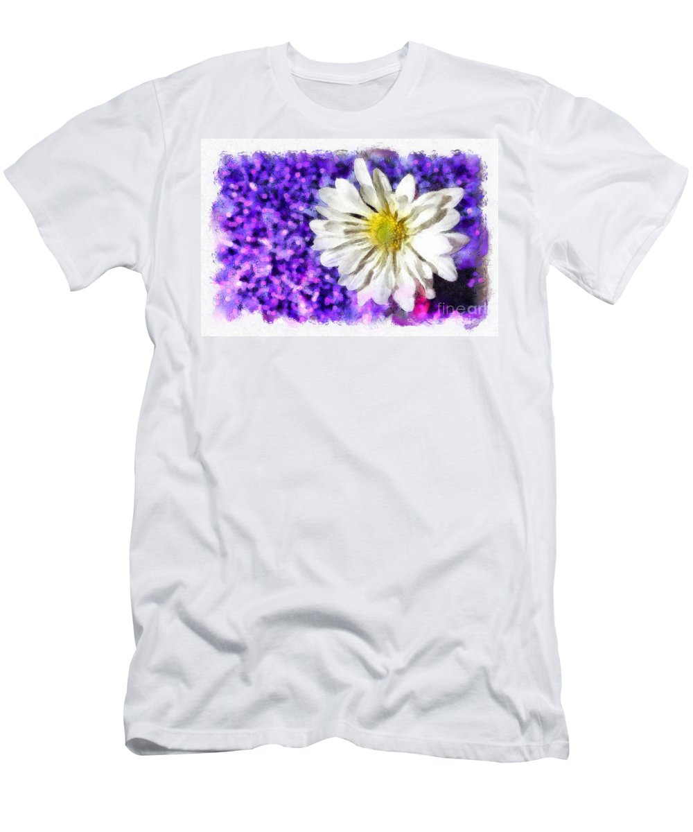 Daisy Men's T-Shirt (Athletic Fit) featuring the photograph Full Of Life by Krissy Katsimbras