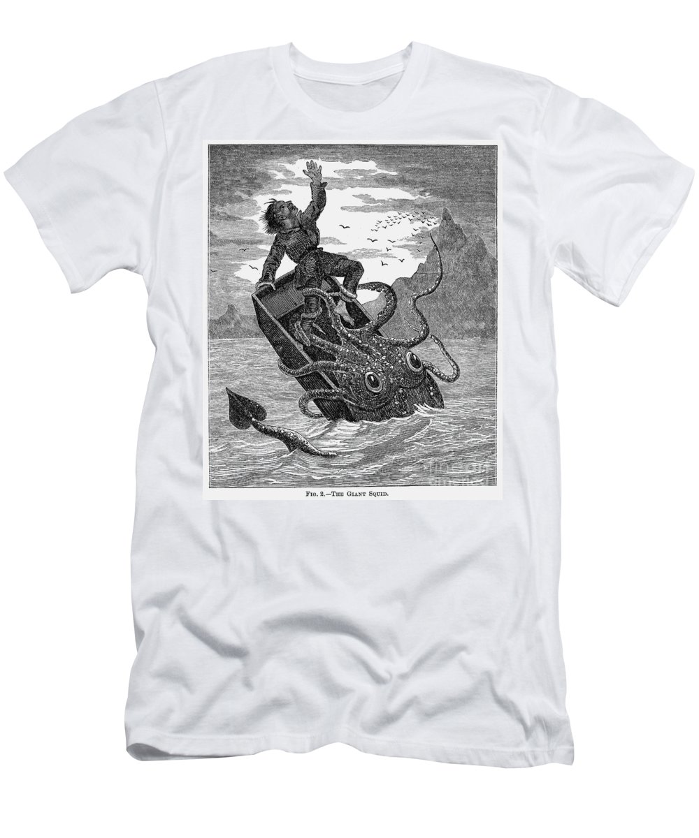 1879 Men's T-Shirt (Athletic Fit) featuring the photograph Giant Squid, 1879 by Granger