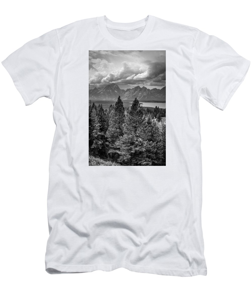 Grand Teton National Park Men's T-Shirt (Athletic Fit) featuring the photograph Grand Tetons by Prashant Thumma