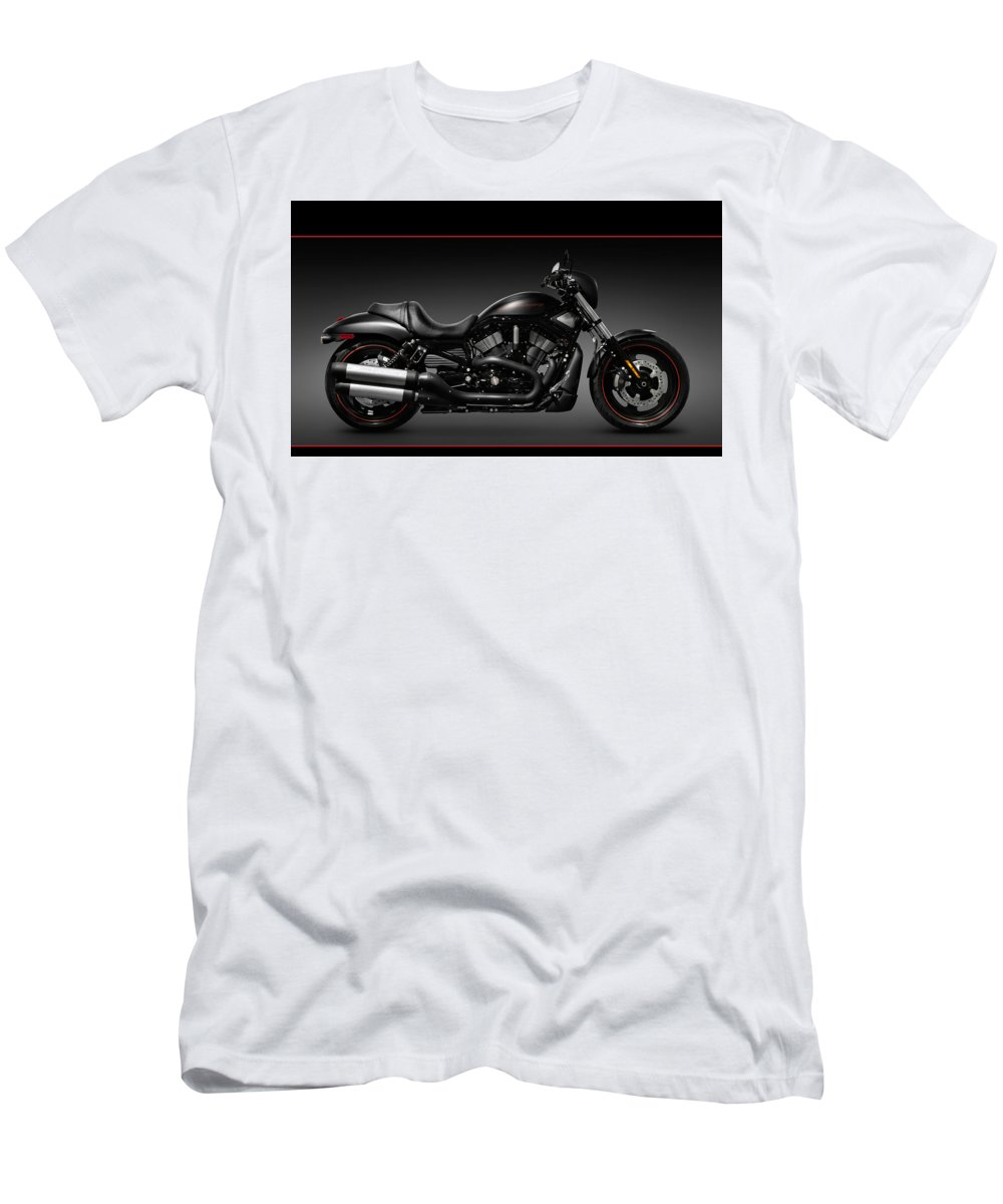 013cf039 Harley Men's T-Shirt (Athletic Fit) featuring the photograph Harley Davidson  Vrscd Night