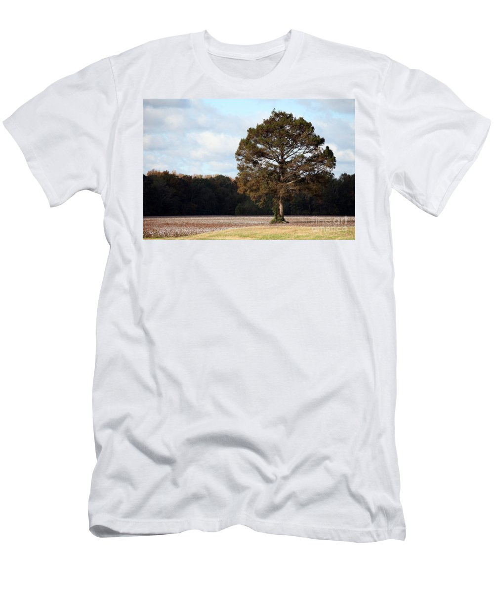 Trees Men's T-Shirt (Athletic Fit) featuring the photograph Home by Amanda Barcon