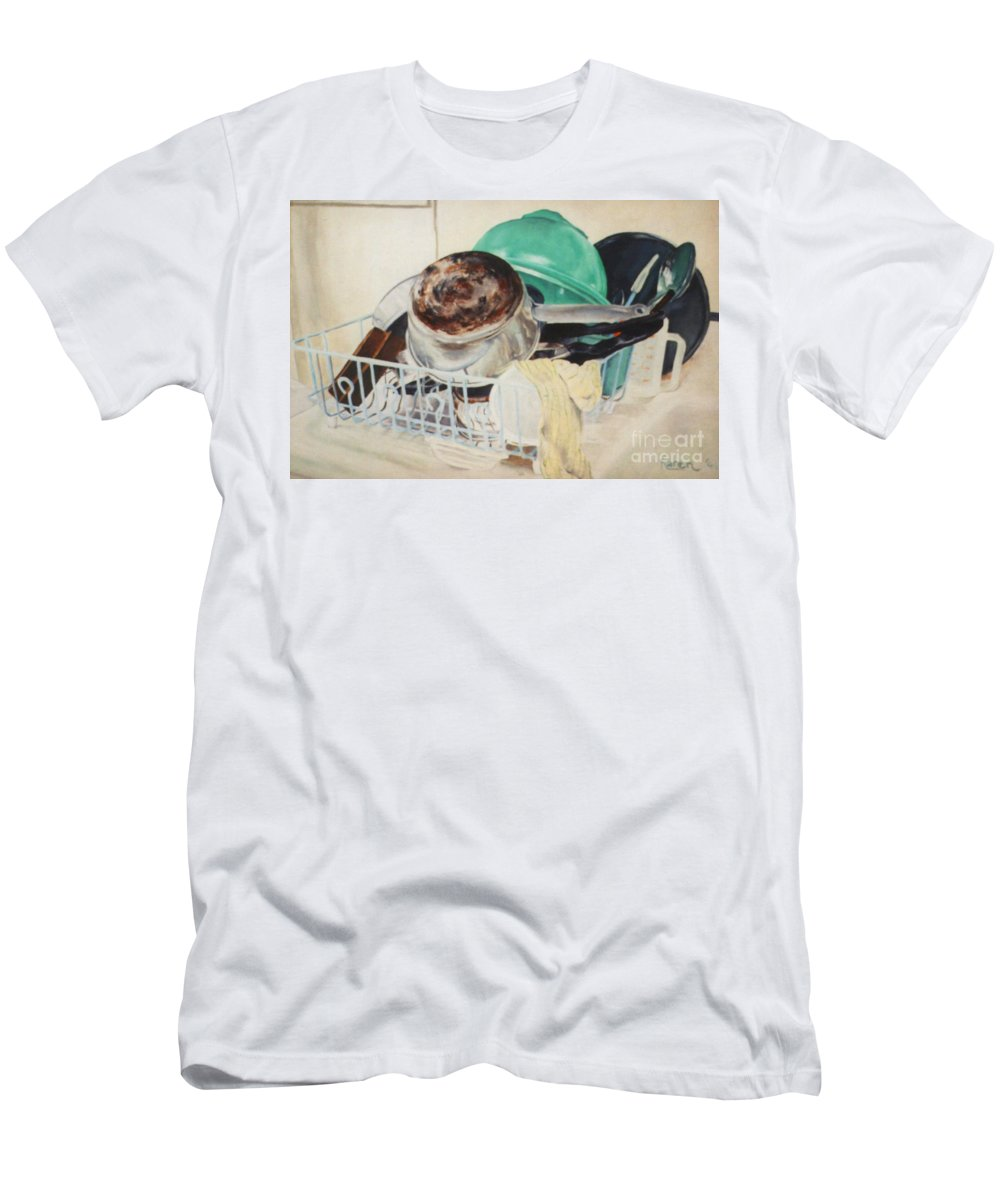 Oil Painting Men's T-Shirt (Athletic Fit) featuring the painting Invisible Work by Karen Henninger